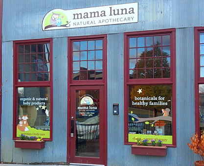 Outdoor Signage for Mama Luna Natural Apothecary