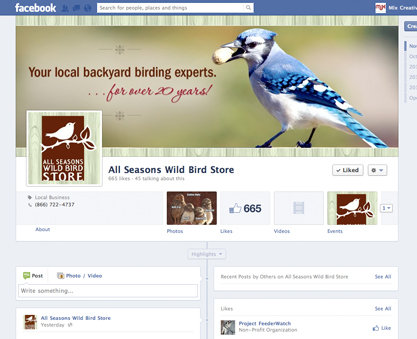 Facebook cover and badge design; social media strategy