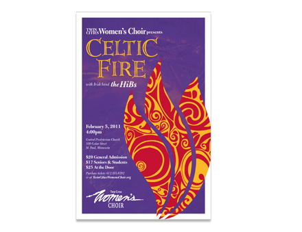 Celtic Fire Poster